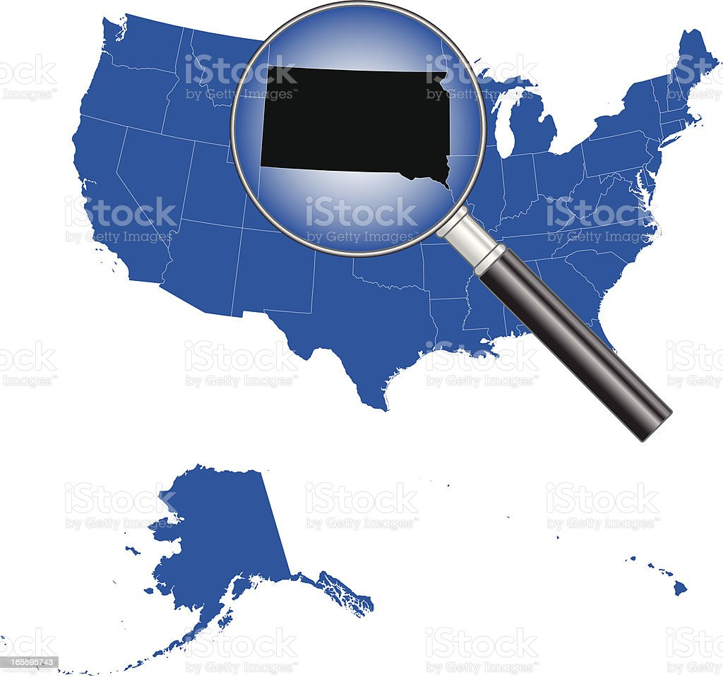 United States of America - South Dakota Map royalty-free united states of america south dakota map stock vector art & more images of backgrounds