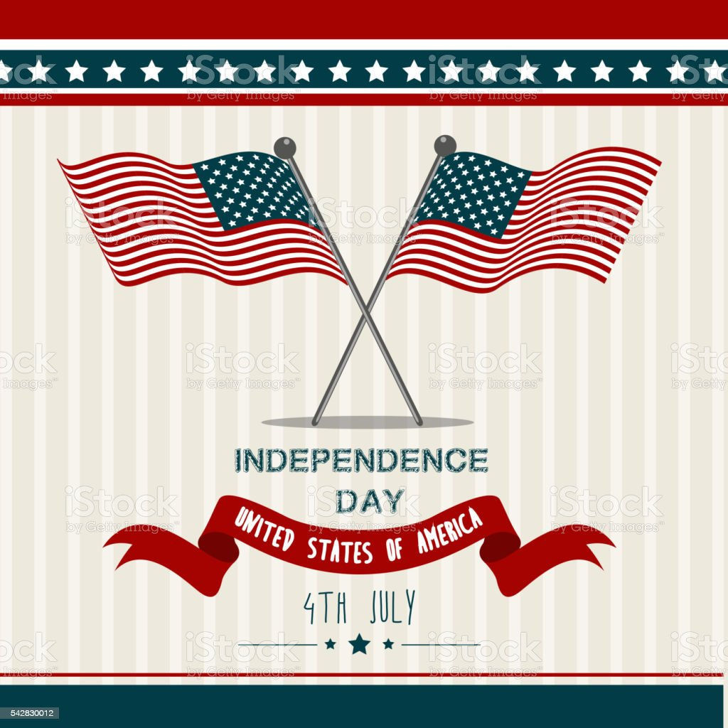 United States of America USA Independence Day vector art illustration