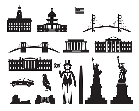 United States of America, USA, Objects Silhouette