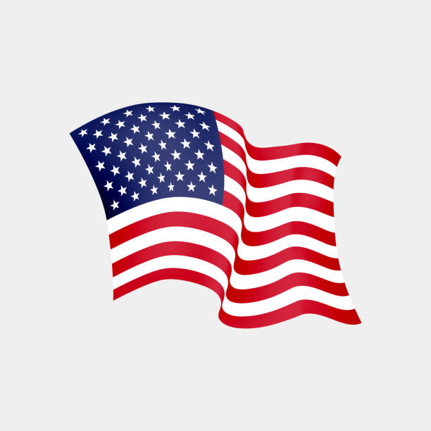united states of america waving flag. vector illustration. us waving flag. stars and stripes fluttering. old glory in the wind - us flag stock illustrations