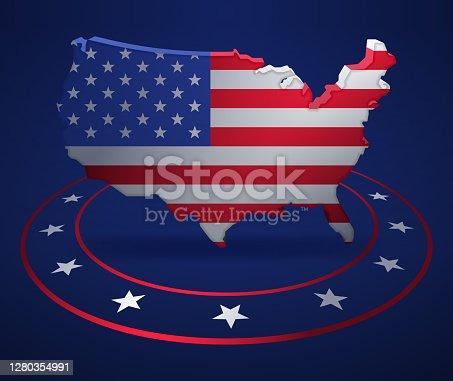 istock United States Patriotic Political Map 1280354991