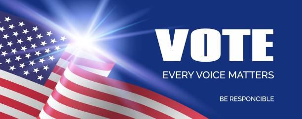 amerika birleşik devletleri cumhurbaşkanlığı seçimleri 2020. vektör uzun afiş şablonu. oy - başkanlık seçimleri stock illustrations