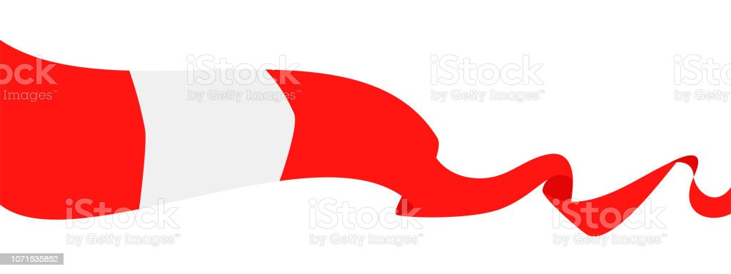 25 - United States - Ribbon Waving Flat vector art illustration