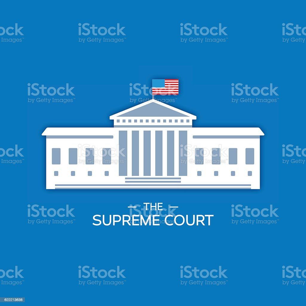 United States Supreme Court vector art illustration
