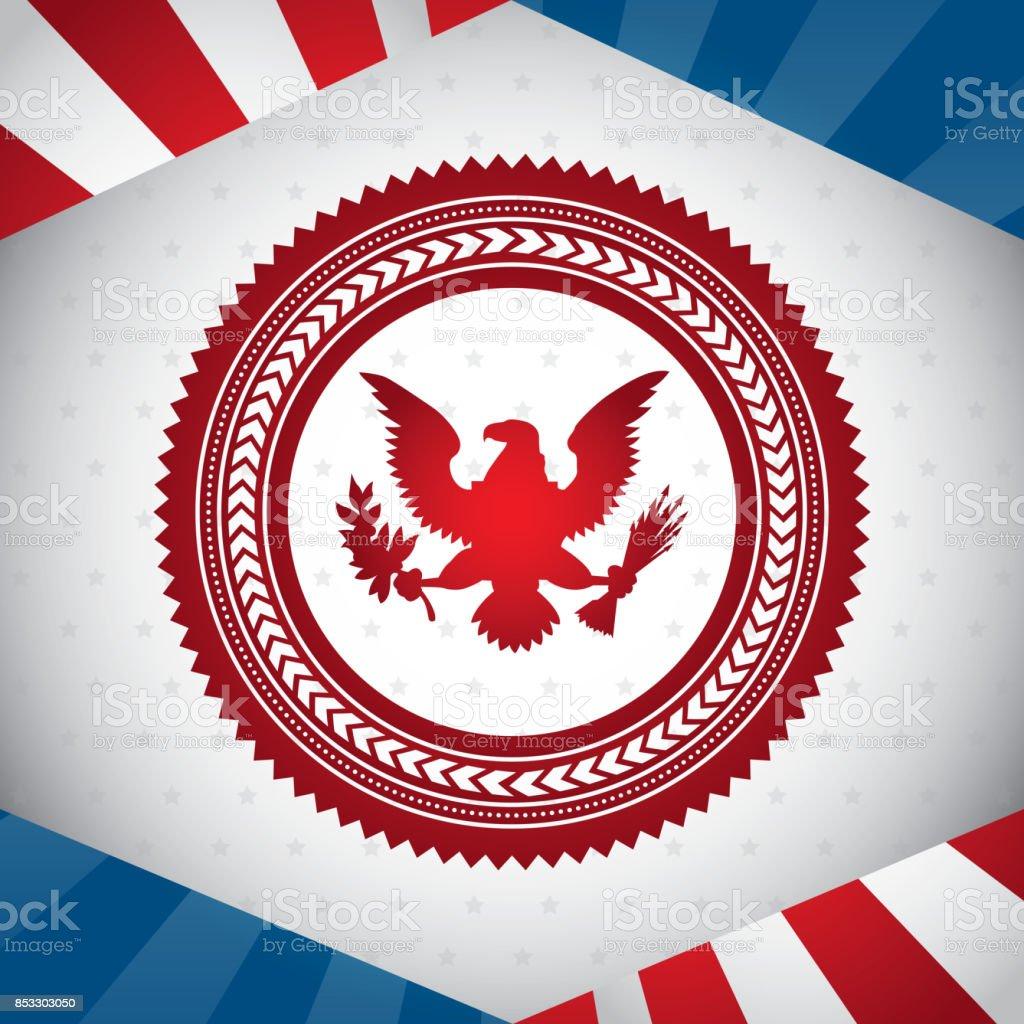 United States Symbol Bald Eagle Vector Illustration Stock Vector Art