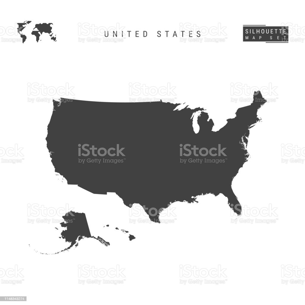 United States Vector Map Isolation On White Background ...
