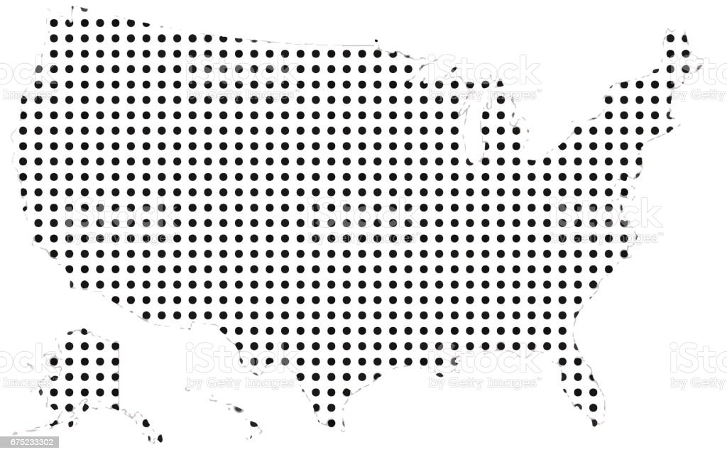 United States vector with polka dots