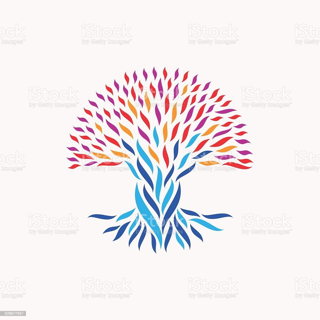 Unity abstract tree concept vector art illustration