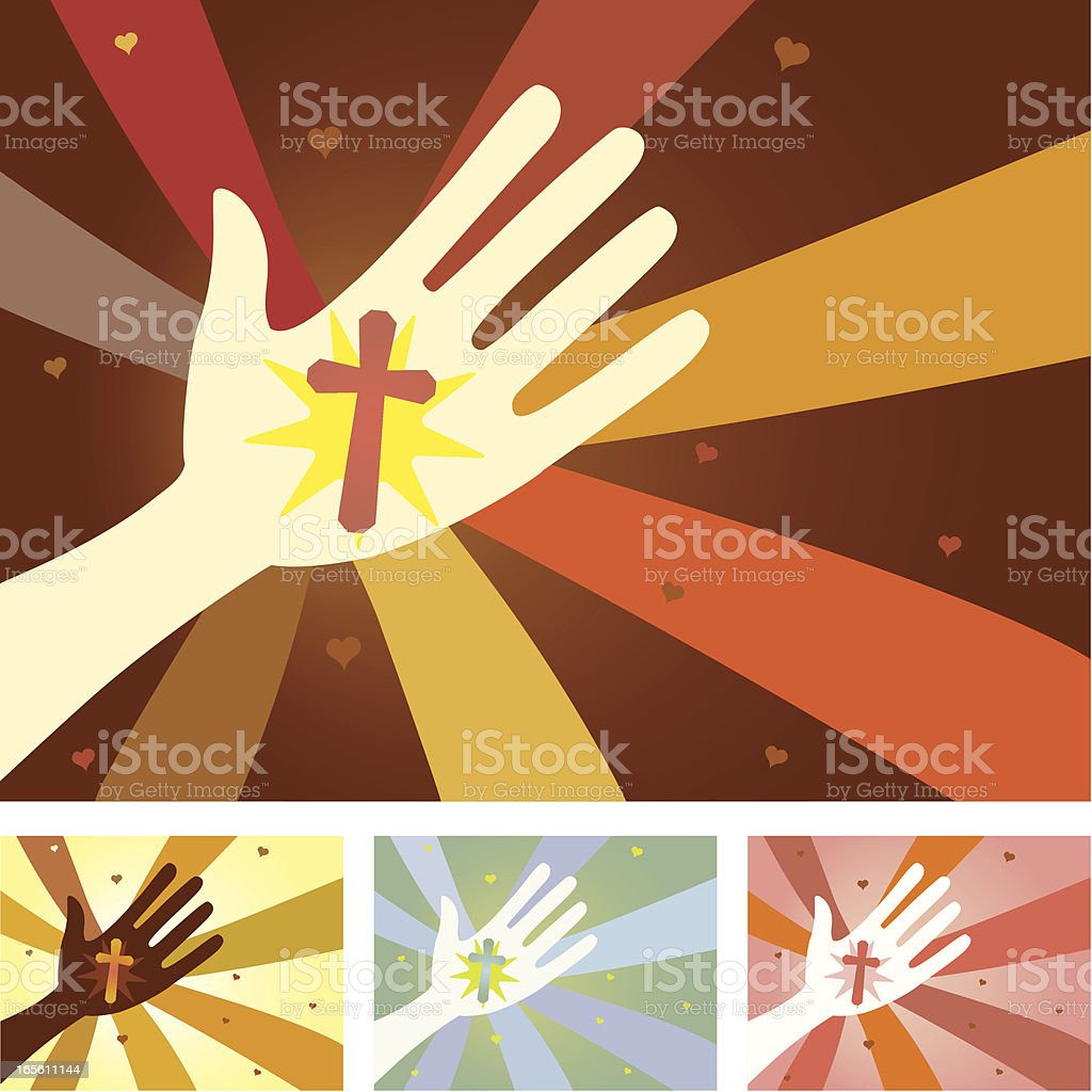 Unity Hands - Christianity royalty-free stock vector art