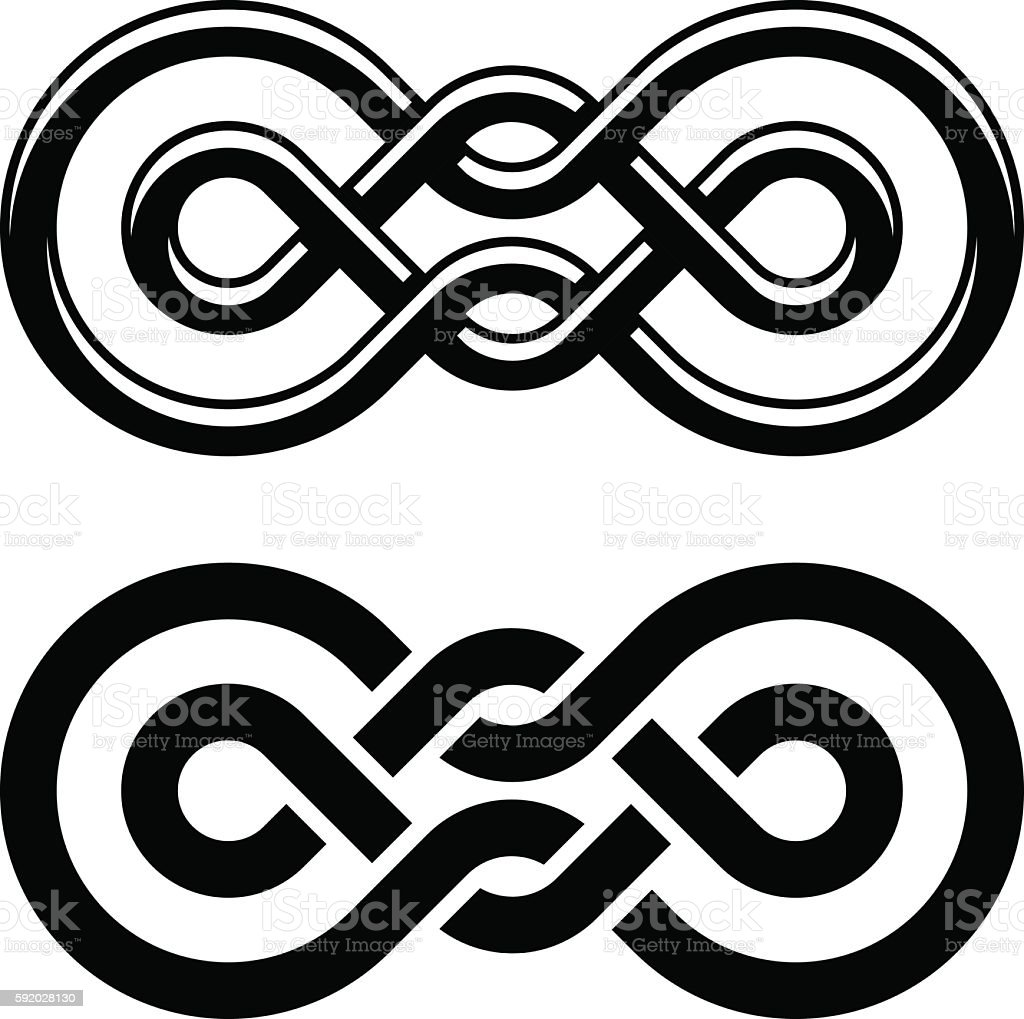 Unity Knot Black White Symbol Stock Illustration Download Image Now Istock