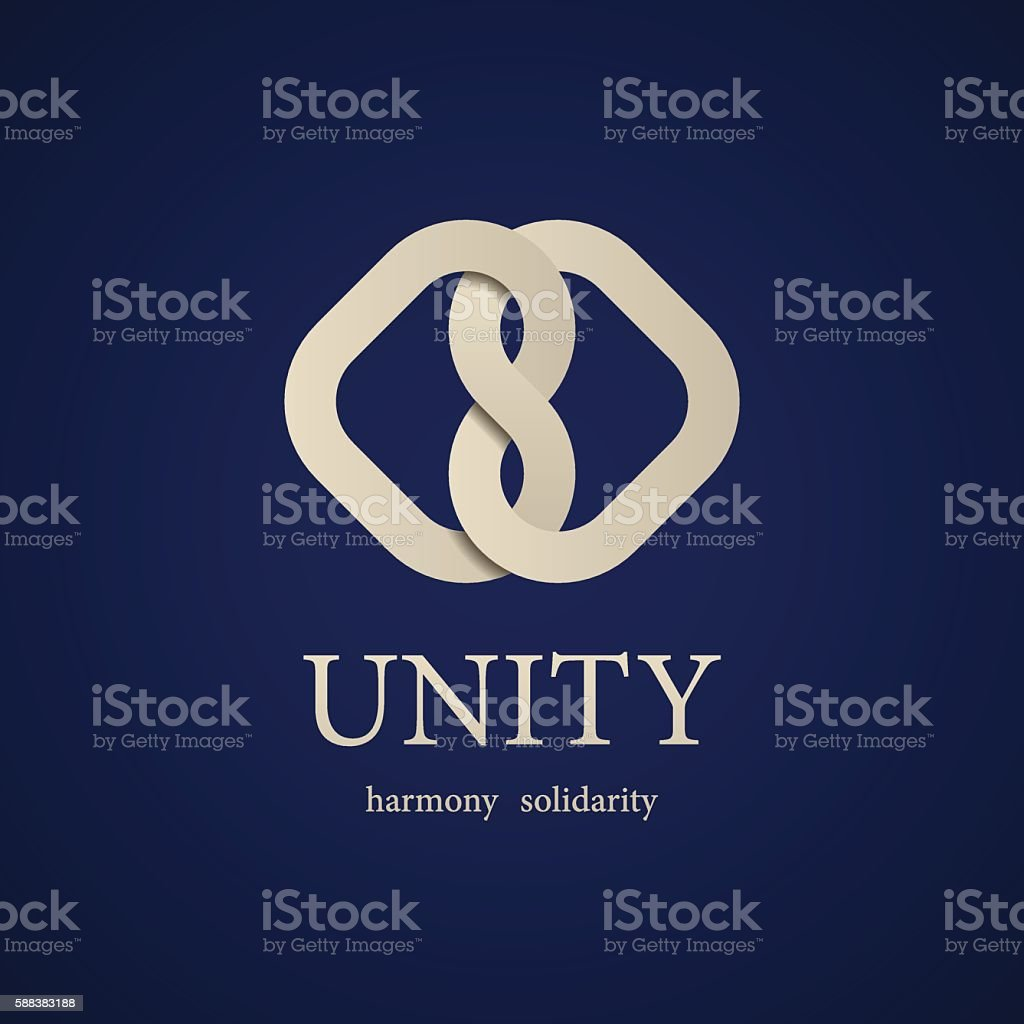 unity knot symbol design template vector art illustration