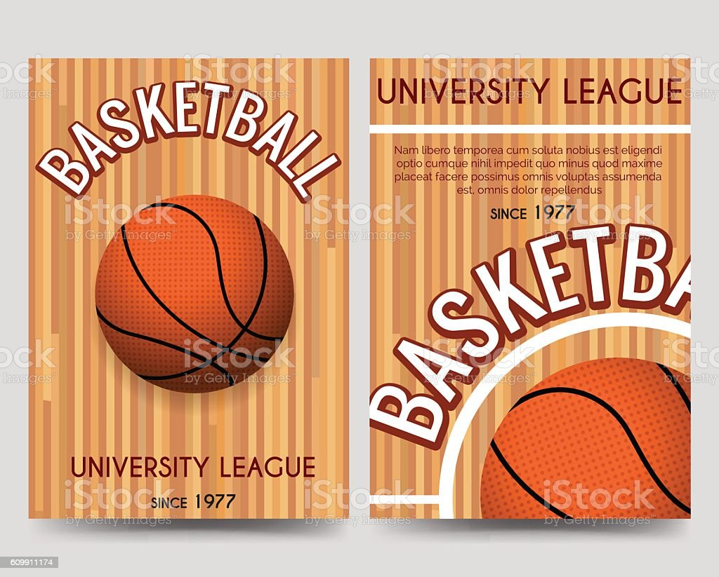 univercity basketball flyer template with ball royalty free univercity basketball flyer template with ball stock
