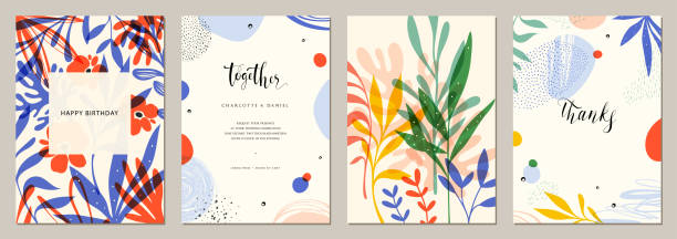 evrensel sanat templates_01 - flowers stock illustrations