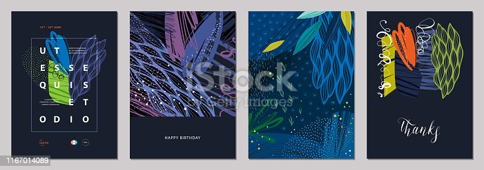 Set of abstract creative templates.