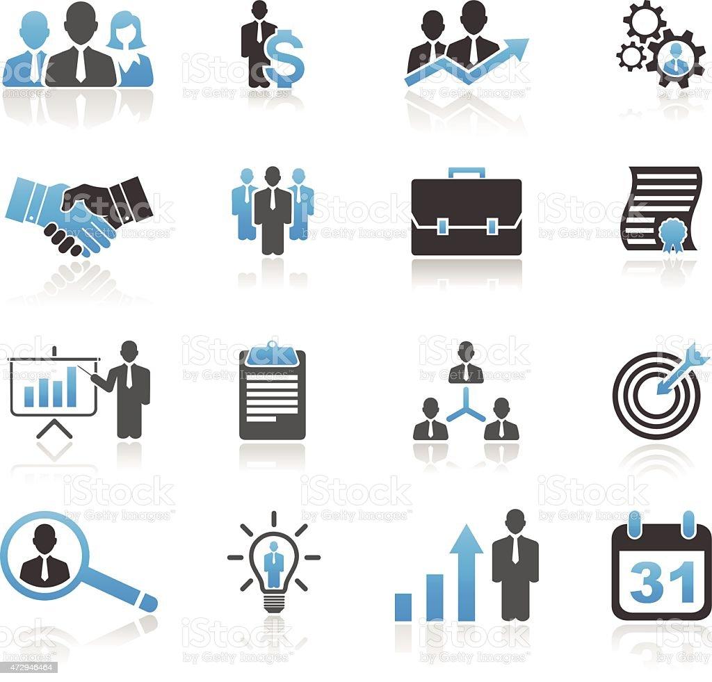Universal business icon set vector art illustration