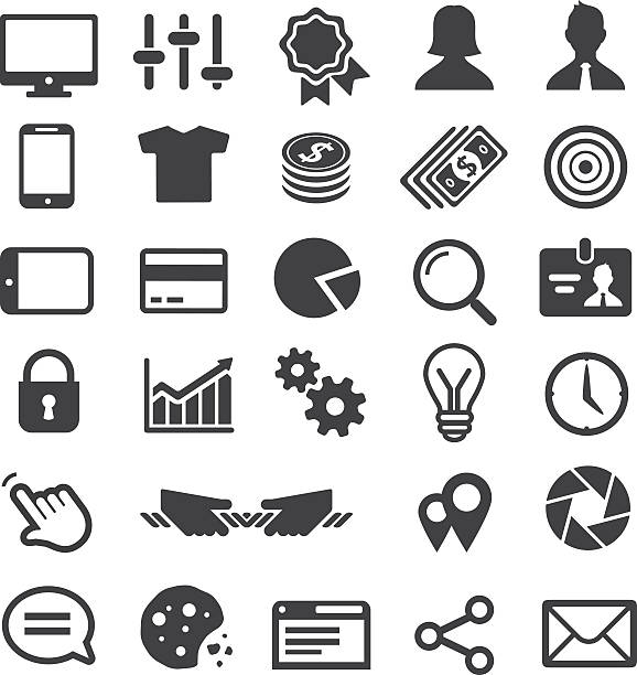 Universal-Business-Icon-Set. – Vektorgrafik