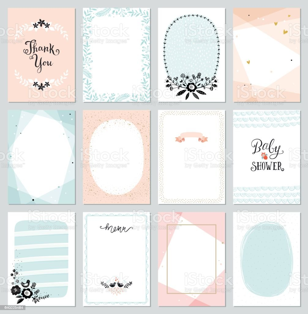 Universal Cards Templates vector art illustration