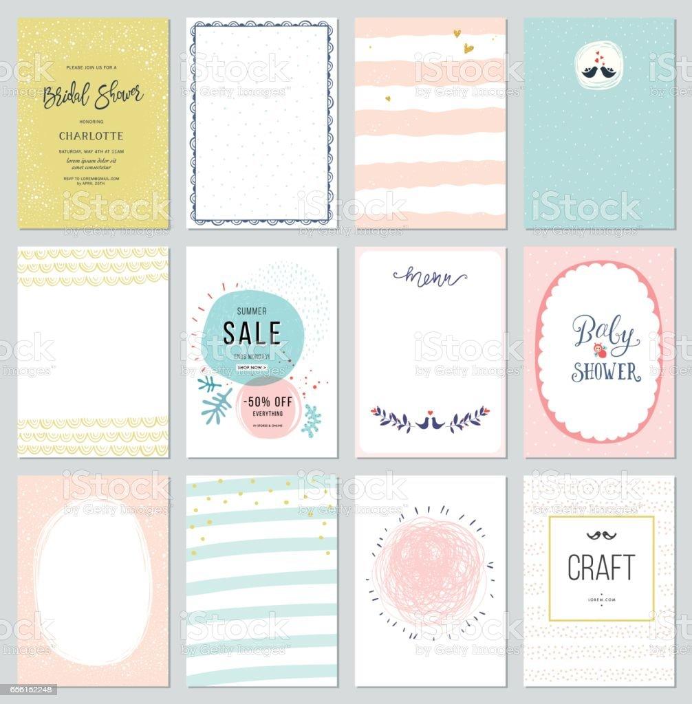 Universal Cards Templates_03 – Vektorgrafik