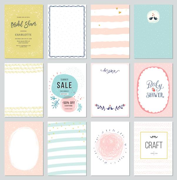 universal cards templates_03 - cute stock illustrations