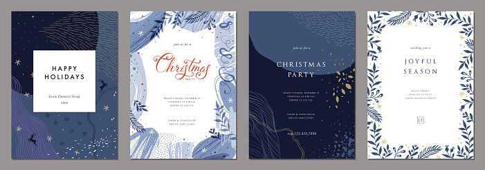 christmas templates stock illustrations