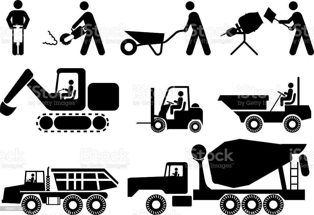 Universal Construction Workforce vector art illustration