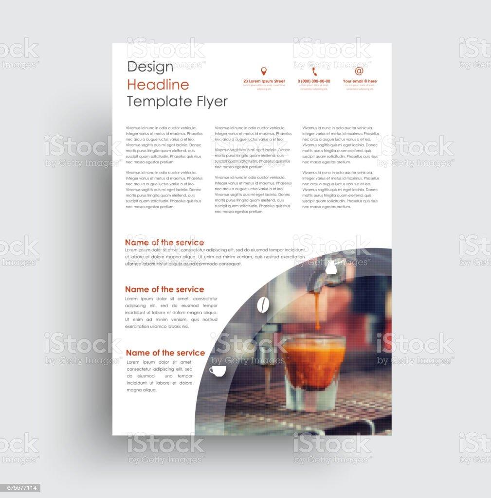 Universelles Design Flyer Für Werbung Sport Essen Getränke Stock ...