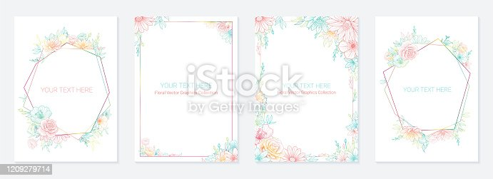 Universal Floral Card Templates