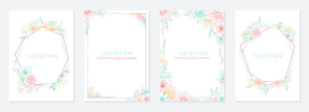Universal Floral Card Templates Universal Floral Card Templates baby shower stock illustrations