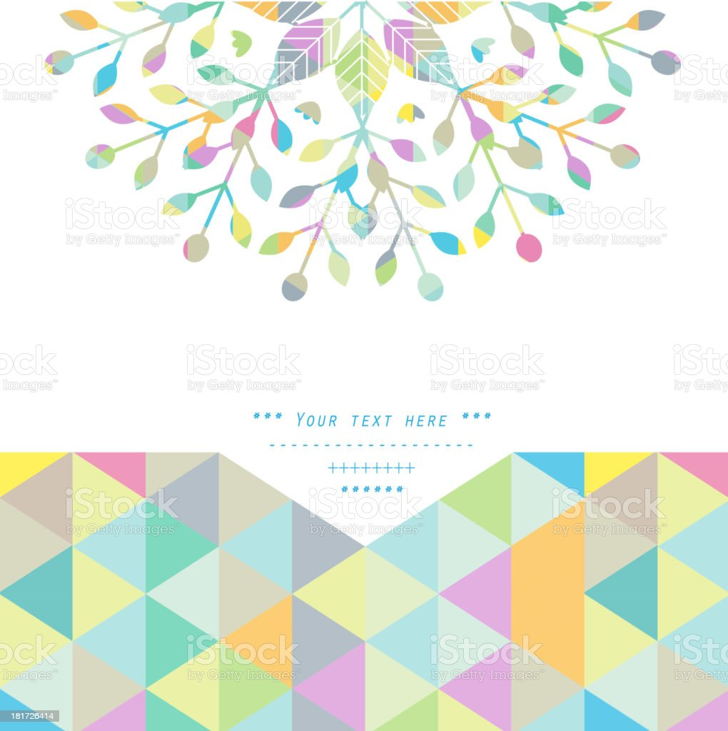 A universal geometric pastel colored background vector art illustration