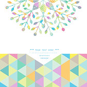 A universal geometric pastel colored background