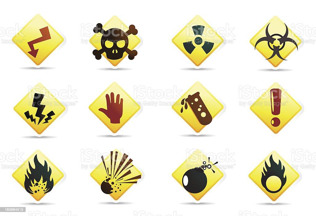 Universal Icon Hazard Symbols Stock Vector Art More Images Of