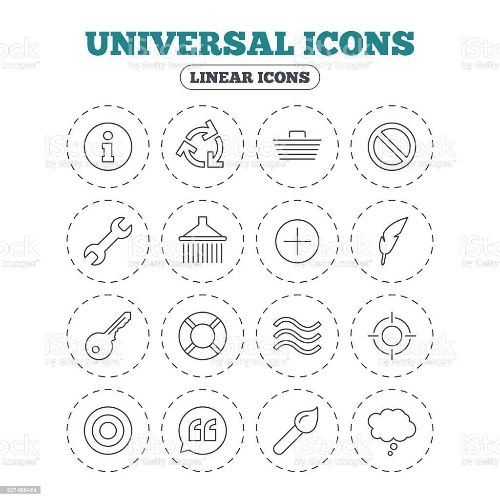 Universal icon. Information, shopping and shower. universal icon information shopping and shower – cliparts vectoriels et plus d'images de balise flottante libre de droits