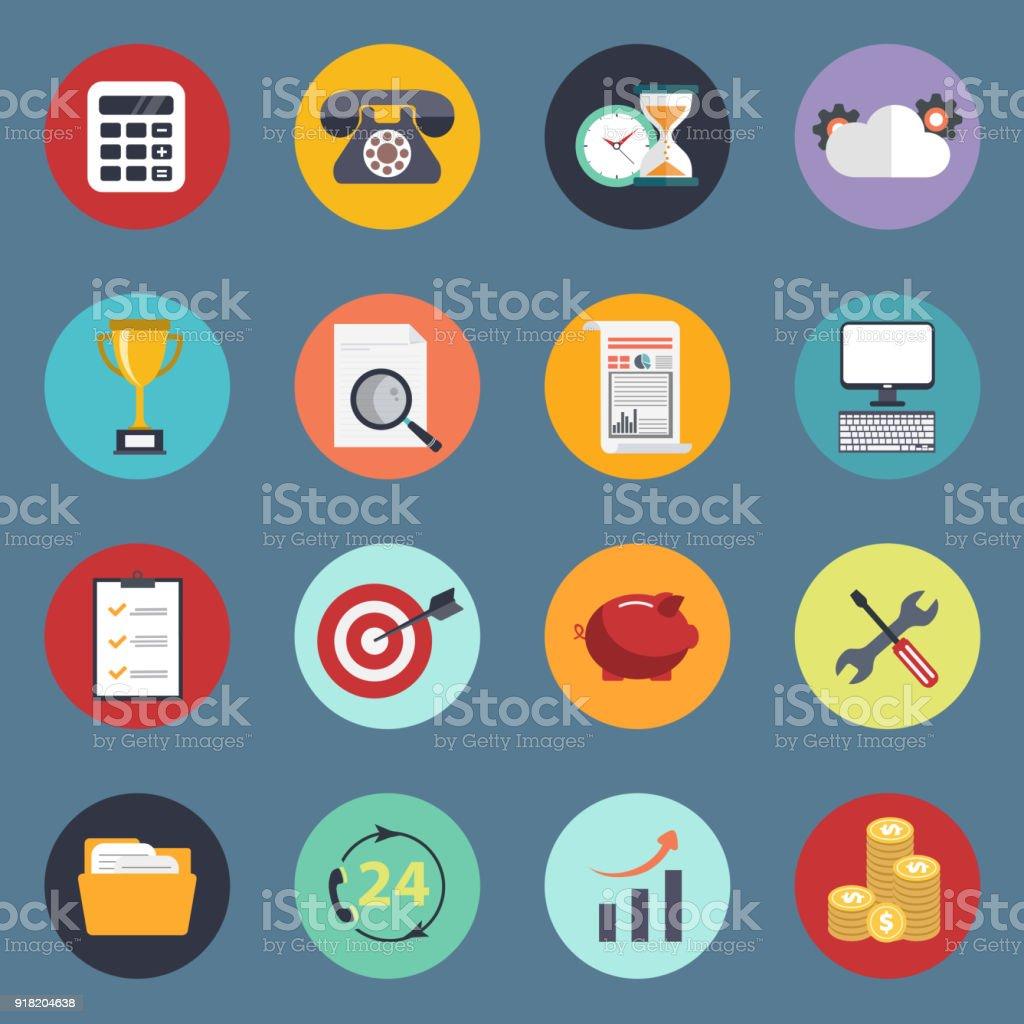 Universelle Symbolsatz Für Websites Und Mobile Anwendungen Flache ...