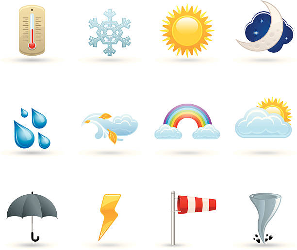 Universal icons - Air Universal Air icons forked lightning stock illustrations