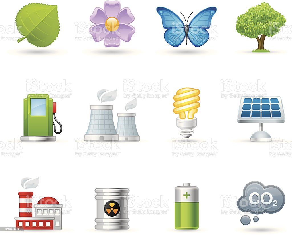 Universal icons - Ecology royalty-free stock vector art