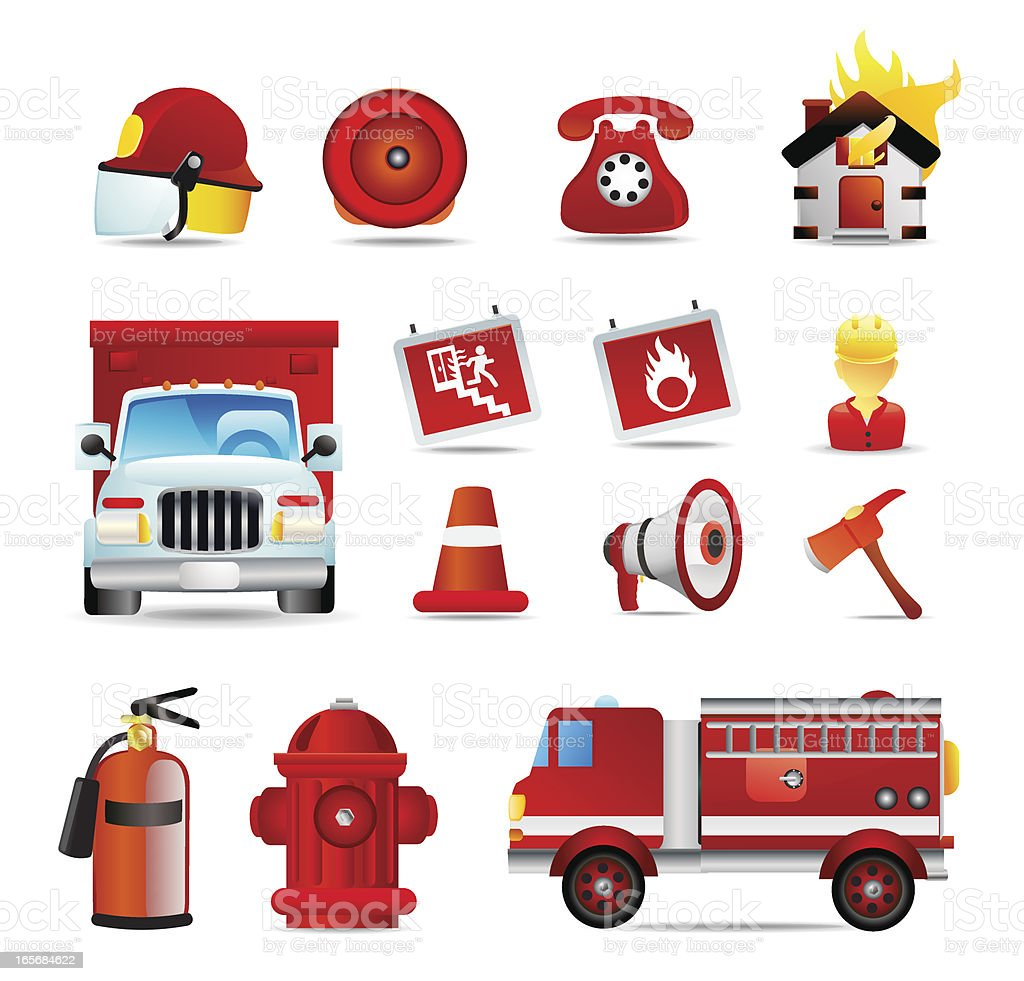 Universal Icons | Fire Fighter royalty-free stock vector art