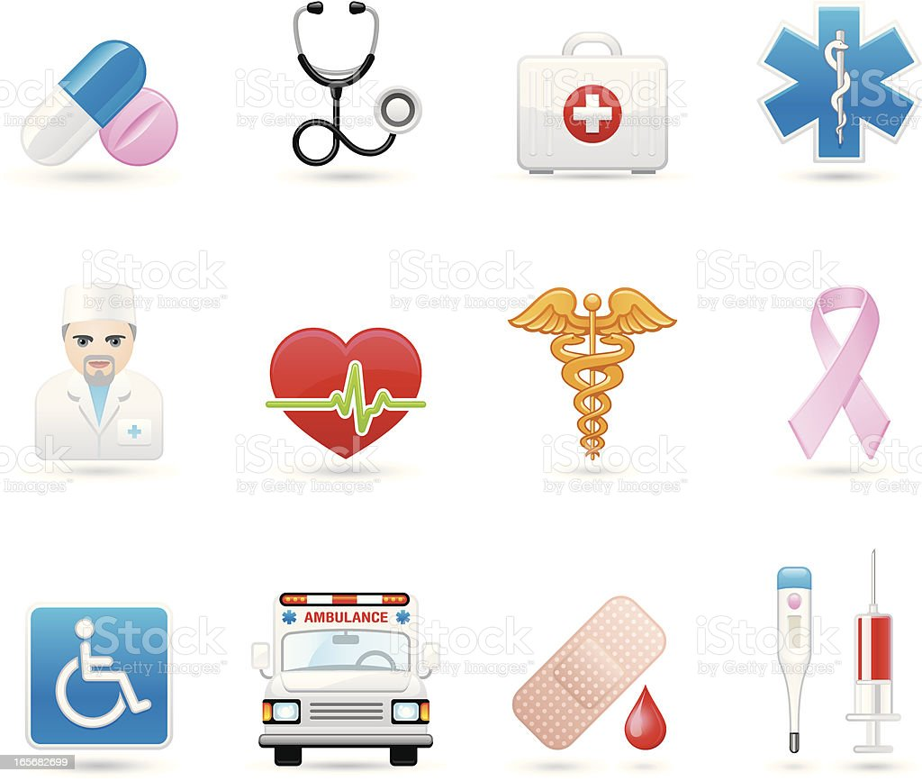Universal icons - Healthcare And Medicine royalty-free stock vector art