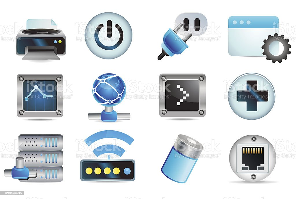 Universal Icons Information Technology Stock Vector Art ...