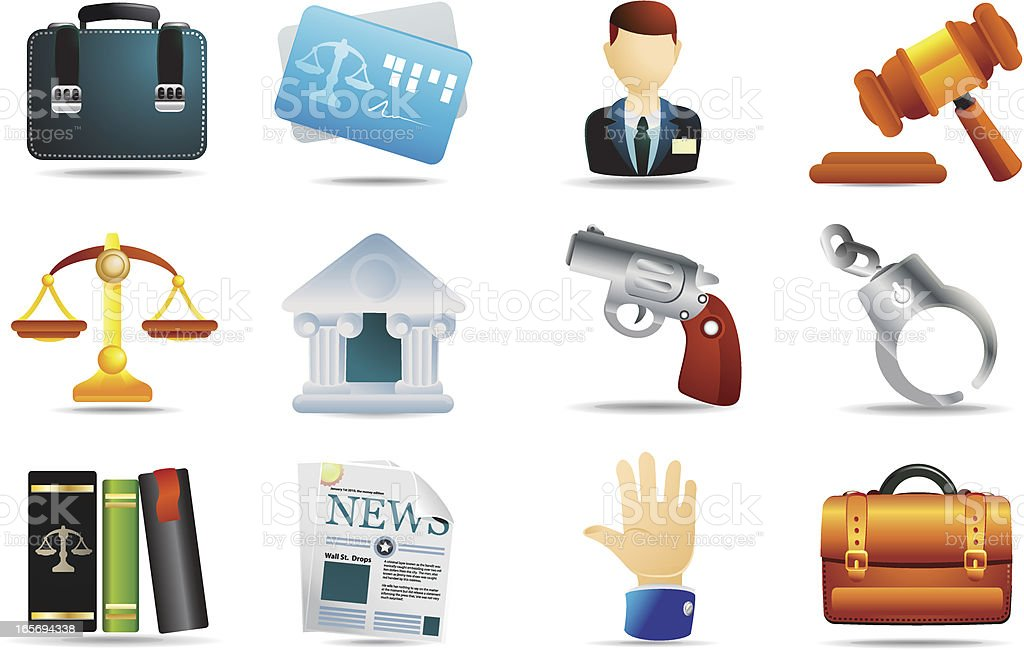 Universal Icons | Law & Legal royalty-free stock vector art