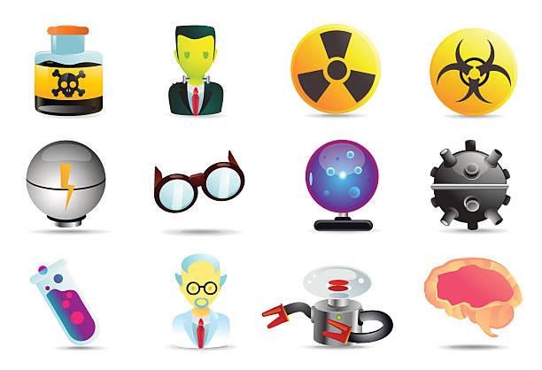 universal icons/verrückter wissenschaftler - extravagant schutzbrille stock-grafiken, -clipart, -cartoons und -symbole