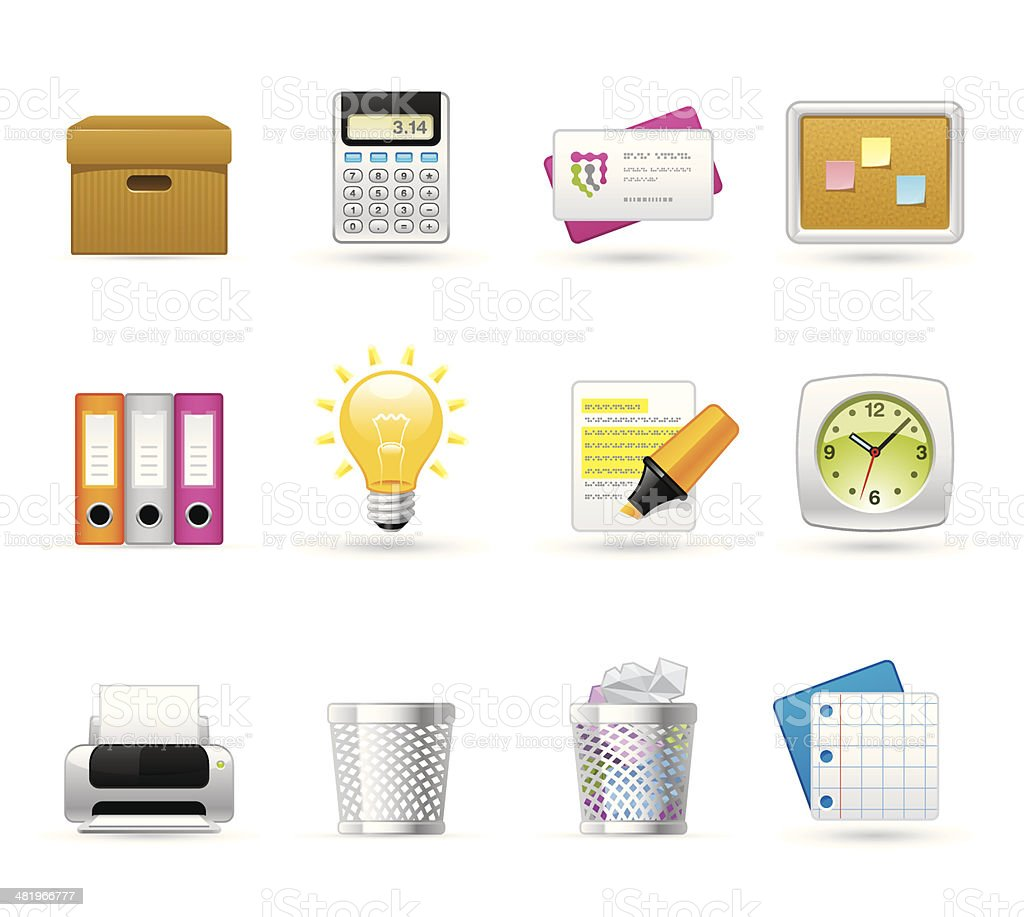 Universal icons - Office royalty-free stock vector art