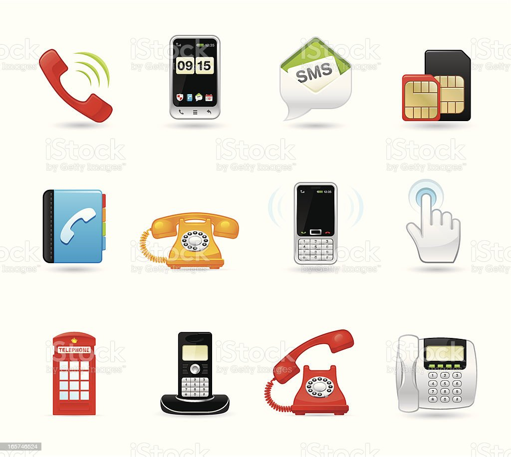 Universal icons - Phone royalty-free stock vector art
