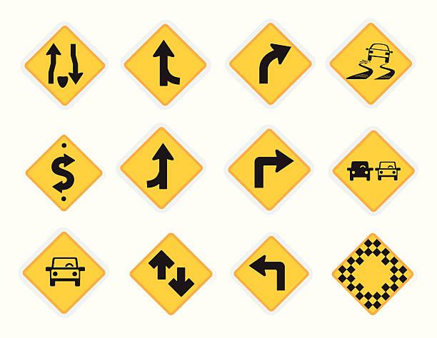 ilustraciones, imágenes clip art, dibujos animados e iconos de stock de señales de iconos de viaje universal - señalización vial