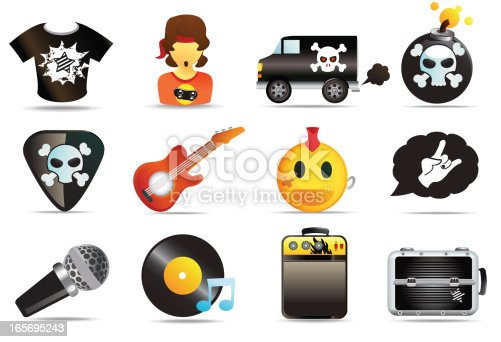 A set of royalty-free rock and roll icons dude!  See more of the series  here.