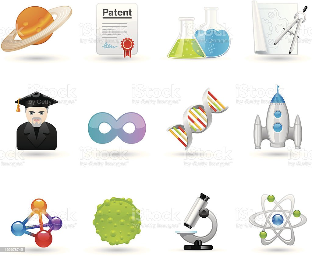 Universal icons - Science royalty-free stock vector art