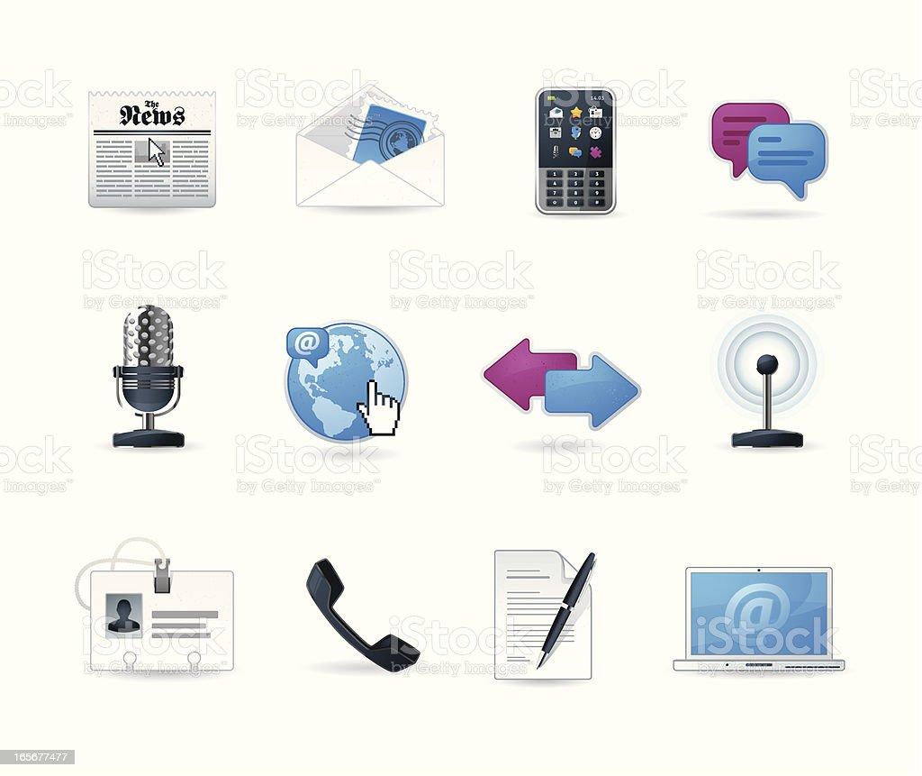 Universal icons | Set 14 (Communication & Media) royalty-free stock vector art