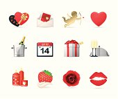 Professional vector collection of Valentine's Day. Zip include transparent PNG, ai, pdf, svg.