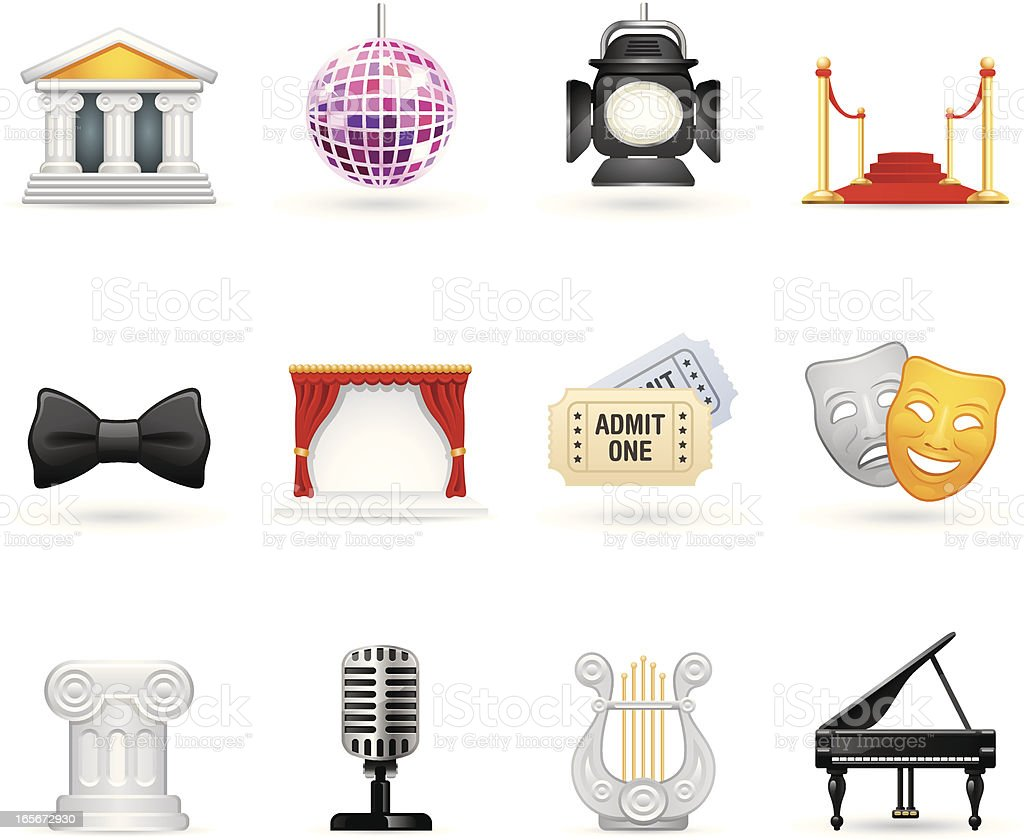 Universal icons - Showbiz royalty-free stock vector art