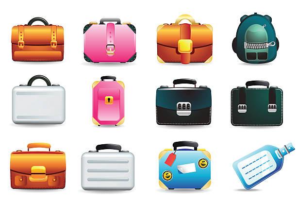 universal icons/koffer und gepäck - lederranzen stock-grafiken, -clipart, -cartoons und -symbole