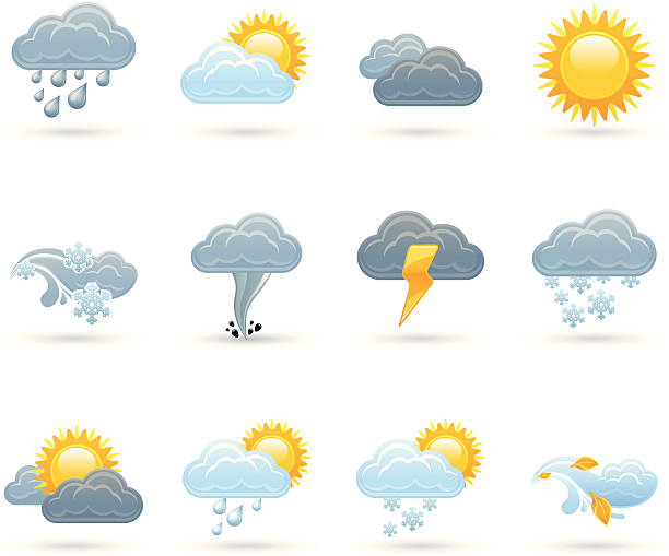 Universal icons - Weather Universal weather vector icons forked lightning stock illustrations